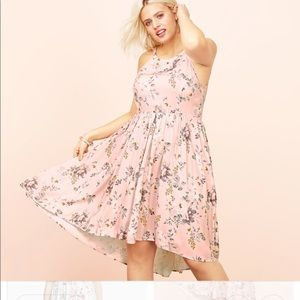 torrid pink floral dress high low